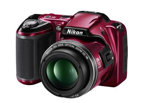Nikon Coolpix L810 Digitalkamera (16 Megapixel, 26-Fach Opt. Zoom, 7,5 cm (3 Zoll) Display, bildstabilisiert) rot