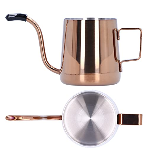 Cafetera de Goteo, Tetera de café de Acero Inoxidable de 240 ml, Tetera de Control de Temperatura de cafetera de Goteo