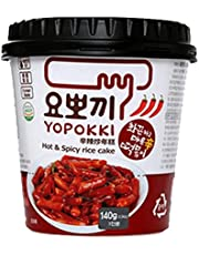Young poong Yopokki Hot & Spicy Rice Cake Topokki Halal , Enriches Flavor & Taste , Tomato Based Sauce , Sweet & Spicy , Korean Authentic - 140Grams