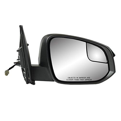 Fit System - 70197T Passenger Side Mirror for Toyota RAV4, US Built, Textured Black, spot Mirror, Foldaway, Does not Apply to Hybrid Models, Power