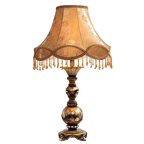 ZWL Lampe de bureau en tissu rétro en tissu, lampe de nuit à la chambre à coucher, salon décoratif, lampe décorative, bureau, lampe de table, studio, lampe de mariage, créative E27, lampe de table fashion.z ( taille : 44*74CM )