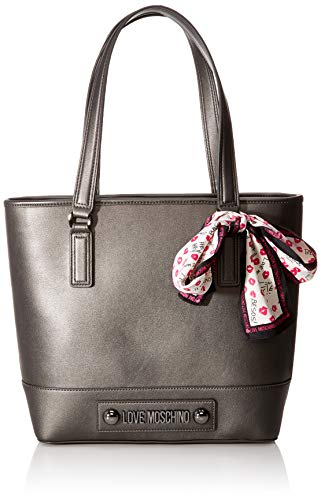 Love Moschino Tote Bag, Grey (Fucile)