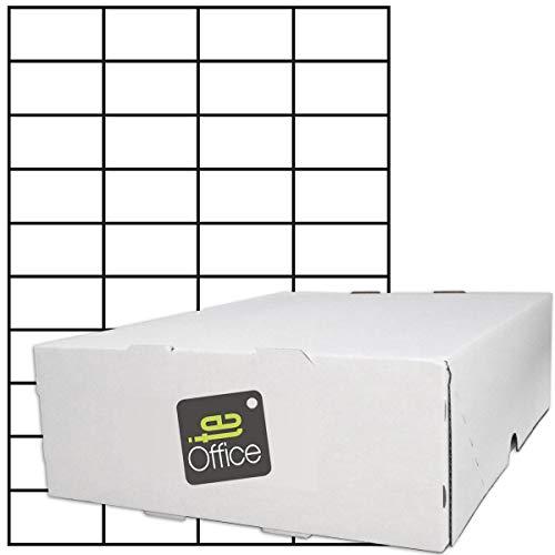 TE-Office 20000 Unidades Etiquetas adhesivas Etiquetas adhesivas Universal Etiqueta en A4 Arco blanco mate 52,5 x 29,7 mm Láser Inyección de tinta