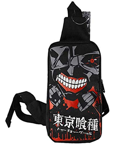 Augyuess Anime Tokyo Ghoul Crossbody Sling Bolsas Mochila DF-6678, Mochila de hombro, Mochila Mochila de pecho Bolsa de senderismo