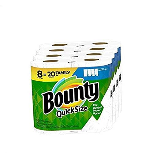 Quick-Size Paper Towels, White, 8 Family Rolls = 20 Regular Rolls 20 Rolls