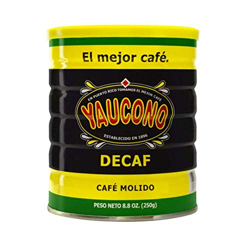 Yaucono Decaf Ground Coffee Canister, 8.8 Ounce (Pack of 1)