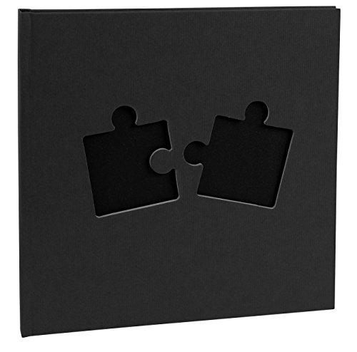 Exacompta Puzzle Hard Bound Fotoalbum 25 x 25 cm, 30 pagina's, zwart, 25 x 25 x 2 cm