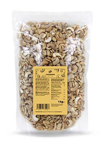 KoRo - Noix de cajou en morceaux   1 kg - Noix de cajou naturelles, sans additifs, non salées, emballage grand format