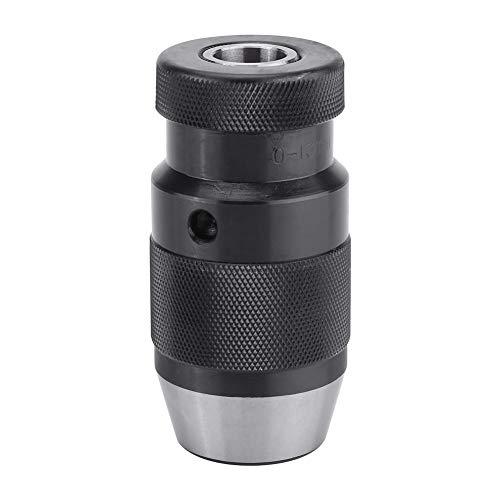 Portabrocas de Taladro Sin Llave de 1/2 Pulgada de 0-13 mm, Portabrocas de Broca de Acero de Ajuste Automático B16 para Taladro Eléctrico de Torno