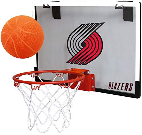 NBA Portland Trailblazers Game On Indoor Basketball Hoop & Ball Set