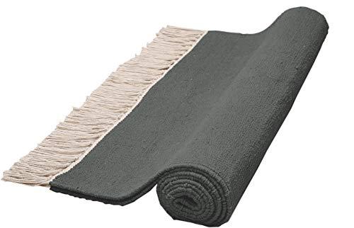 Native Fab Baumwolle Yogamatte rutschfest schadstofffrei, Dicke XL 60x182 cm Ideal für Ashtanga Yoga und andere Yogaarten - Gymnastikmatte Fitnessmatte Übungsmatte Grau