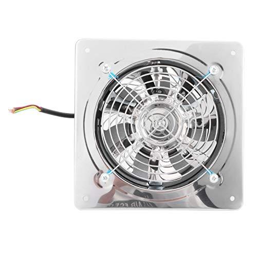 Lazimin Ventilador Extractor de Escape de 7.5 Pulgadas, 2800r / min, 7 aspas, Ventilador de ventilación de bajo Ruido de Acero Inoxidable, con válvula de retención automática en la Parte Poste
