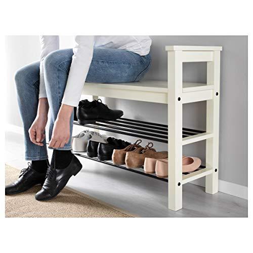 Banco IKEA HEMNES con zapatero 85x32x65 cm blanco