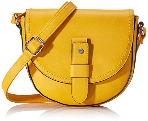 TOM TAILOR Umhängetasche Damen, Gelb, Matera, 20x7x19 cm, Handtasche, Schultertasche