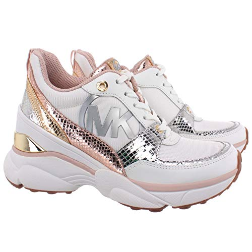 Michael MICHAEL KORS Mickey Sneaker Femmes Weiss/Rose/Gold - 37 - Sneaker Low