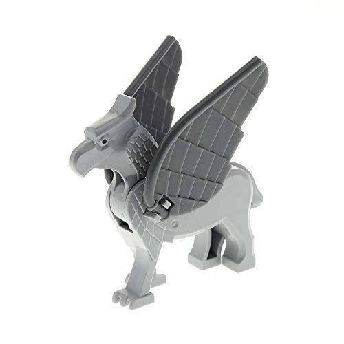 LEGO 1 x System Tier Figur Hippogreif Seidenschnabel neu-hell grau mit Flügel Set Harry Potter 4750 4753 Buckbeak Buckbeakc01