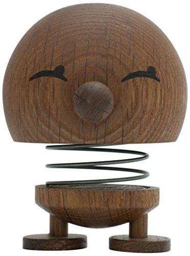 Hoptimist Woody Bimble, Groß, Mädchen mit Lächelnden Augen, Deko- / Spielidee, Eichenholz Geräuchert, 7001-02