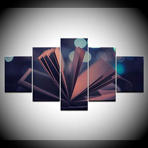 Pintura En Lienzo, Libro De Apertura Abstracto, 5 Piezas, Pintura De Arte De Pared, Fondos De Pantalla Modulares, Impresión De Póster para Sala De Estar, Decoración del Hogar(Sin Marco)