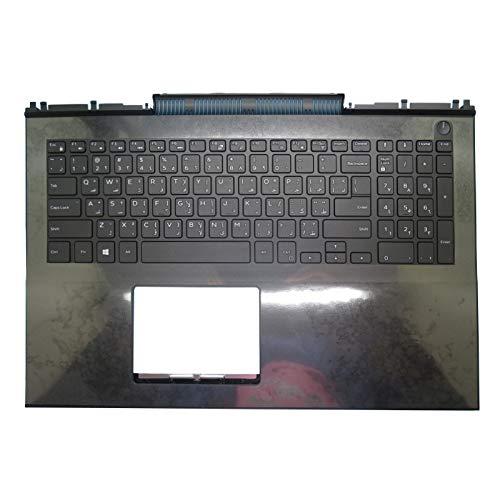 GAOCHENG Laptop Palmrest for DELL Inspiron 15 7000 7566 7567 P65F 0MDC8K MDC8K 0024VX 024VX Black with Arabia AR Keyboard Upper case New