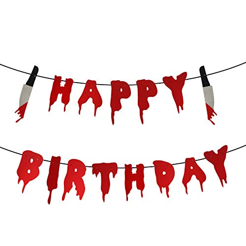 Halloween Birthday Banner, Have a Killer Birthday Party Banner, Halloween Horror Birthday Party Decorations, Friday the 13th Birthday Party Decorations, Halloween Zombie Vampire Party Decorations