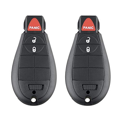 Aupoko GQ4-53T Keyless Entry Remote Key Fob, 3 Buttons Smart Key 56046953,56046953AE, 56046953AC,56046953AG, Fits for Dodge Ram 1500 2500 3500-2 PC
