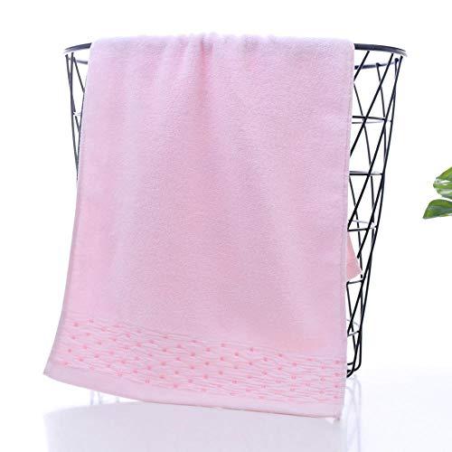 Fuduoduo Toallas Altamente Absorbentes para,Toalla Suave Absorbente de Agua de algodón Puro 34 * 74-Pink 4PCS,Toallas De AlgodóN Ultra Suaves