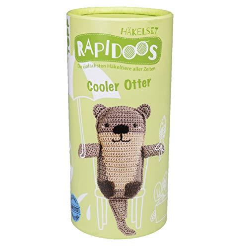 Rapidoos Häkelset Cooler Otter: Die einfachsten Häkeltiere aller Zeiten. Anleitung und Material für einen süßen Otter zum Selberhäkeln