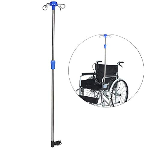 ZZYYZZ IV Ständer für Rollstuhlfahrer, IV-Stange mit Edelstahl, höhenverstellbarer Displayständer