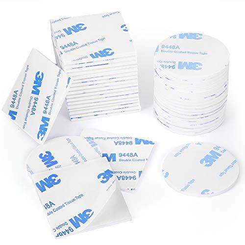 Klebepads Doppelseitig, Doppelseitige Schaumstoff-Pads, 120 Stück Doppelseitiges Klebeband Extra Stark Weiß Klebeband Quadratisch und Rund