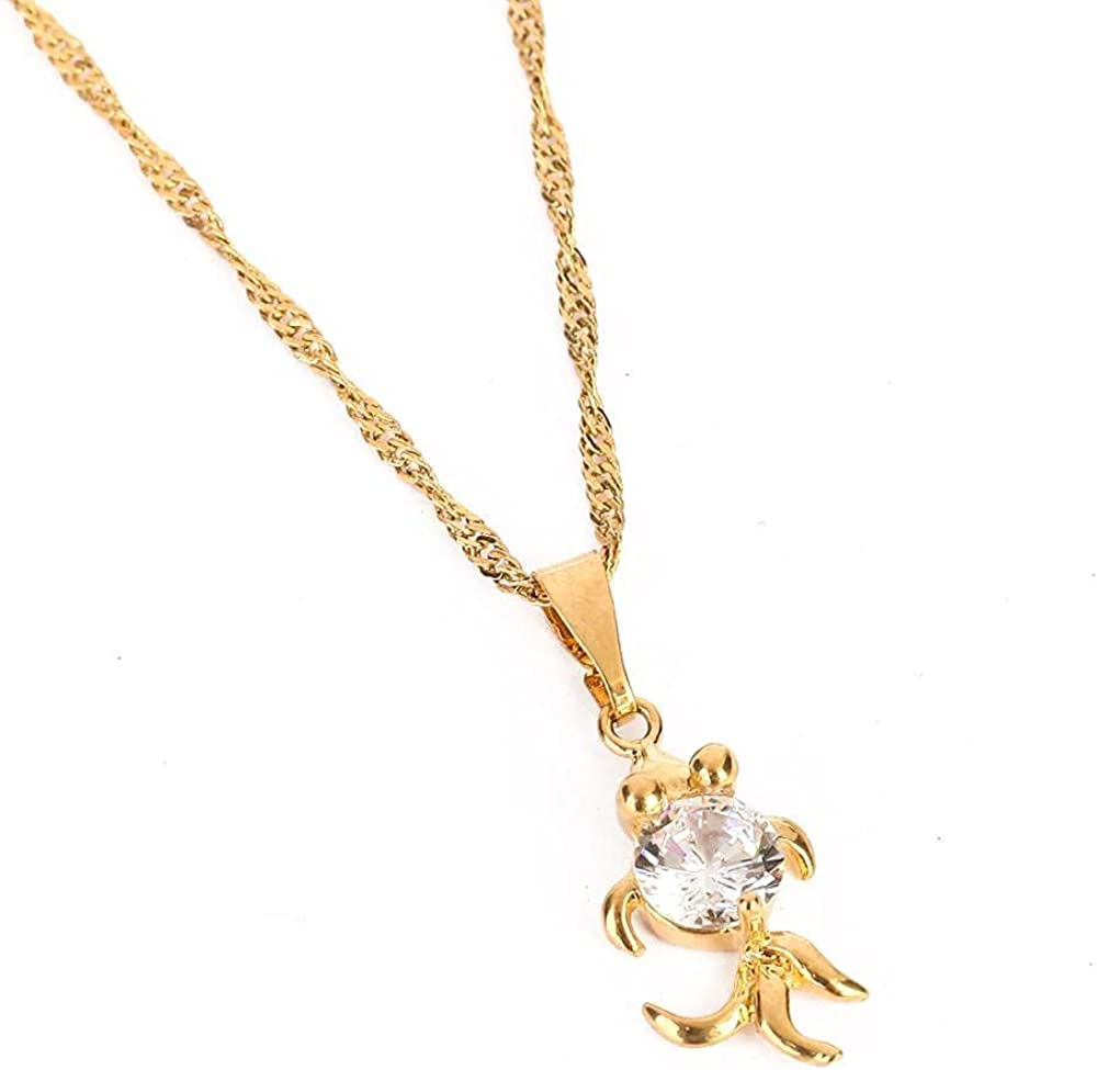Natural Stone Pendant Necklace Women Crystal Stone Gold Color Fashion Jewelry