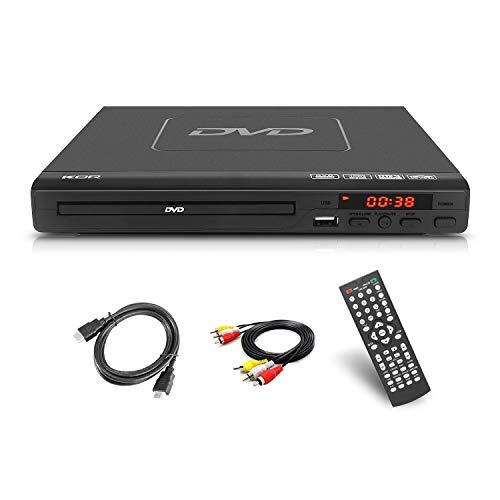 Reproductor de DVD de 225 mm para Entretenimiento en el hogar y el Aprendizaje, soporta Salida HDMI/AV, Entrada USB, con Mando a Distancia ( No es compatible con Blu-ray Disc)
