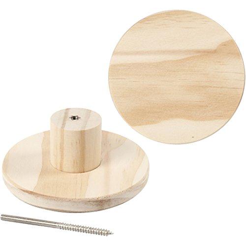 Kapstok, rond, d: 11 cm, diepte 4,5 cm, grenen, 1stuk