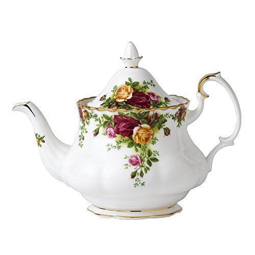 Royal Albert Oude Land Rozen Theepot M/S 0.8Ltr Wit, Bone China
