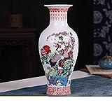 QTQHOME Blue Keramikbeschichtung Vase,traditionellen Technologie hochtemperatur Feuern Einzigartig In Vase Haushalt Dekoration Wohnzimmer Büro Hotels Kunst-o 20x46cm(8x18inch)