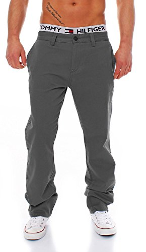 Big Seven Evan Chino Pant Regular Fit Herren Hose, Hosengröße:W42/L34, Farbe:Dark Grey