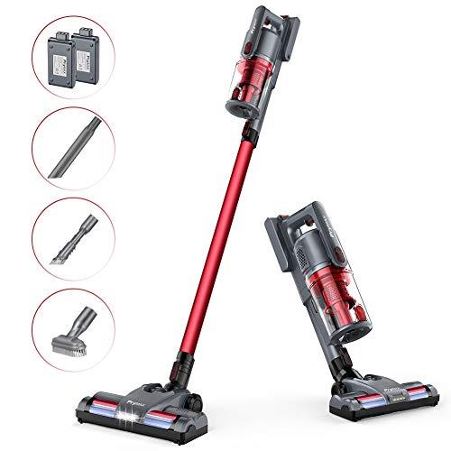 %11 OFF! Cordless Vacuum Cleaner, PryMAX Handheld Vacuum 4 in 1 Powerful Suction Stick Vacuum Cleane...