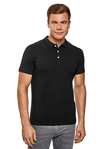 oodji Ultra Herren Pique Poloshirt (2er-Pack), Mehrfarbig, DE 50 / M