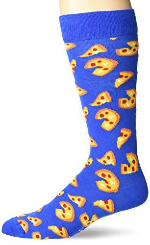 Happy Socks Pizza Sock Medium Blue Men's Shoe Size 8-12