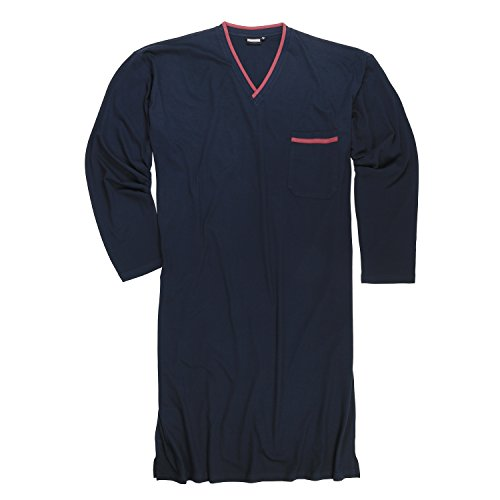 ADAMO Ciemnoniebieska koszula nocna, duże rozmiary, XXL do 10XL