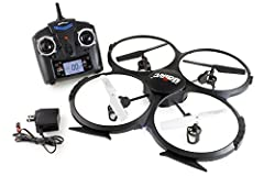 6 AXIS GYRO with posture control - Integrated design guarantee the precise positioning of the aircraft 4 CHANNEL function provide stable flying and easy operation; Video Camera FPV High Capacity Battery And Strong Power Motors Enable The Helicopter T...