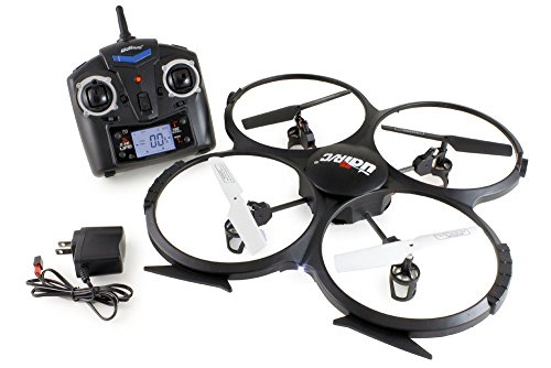 UDI RC U818A 2.4GHz 4 CH 6 Axis Gyro RC Quadcopter with RTF Mode 2 Camera
