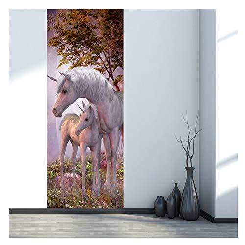Kuke Türtapete Selbstklebend Wasserdicht PVC Abnehmbar Türpanel - Türposter Türaufkleber für Wohnzimmer, Schlafzimmer Tür Dekoration