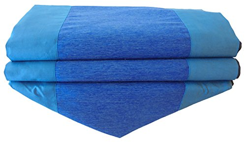 bicolore Uni pas Motif – Bleu Roi – Chemin de table Nappe pour la cuisine salon Thai Silk Dimensions 250 cm x 30 cm