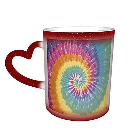 MENYUAN Taza de café tie-dye mágico sensible al calor color cambiante taza en el cielo tazas de café regalos personalizados para los amantes de la familia amigos
