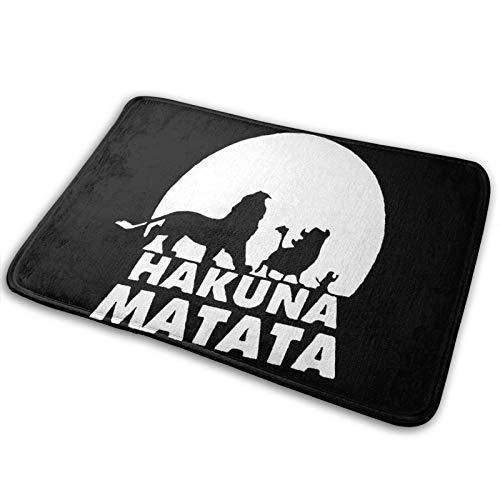 The Lion King - Hakuna Matata 222 Felpudo de bienvenida L para interiores y exteriores, alfombra de entrada para el suelo, raspador de zapatos, 39,7 x 59,7 cm