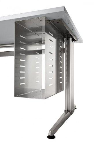 PC-Halterung Hammerbacher PC-Halter für Schreibtisch Metall Silber