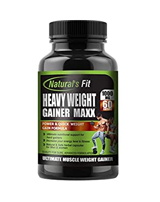 Naturals Fit Mass Weight Gainer, 60 Capsule, 1000 Mg, High Carbs Natural Supplements from Natural's Fit