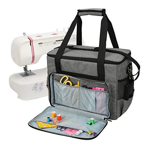 JOZEA Nähmaschinentasche,stabile Transport und Aufbewahrungs Tasche für die meisten gängigen Haushaltsnähmaschinen und Nähmaschine Zubehör