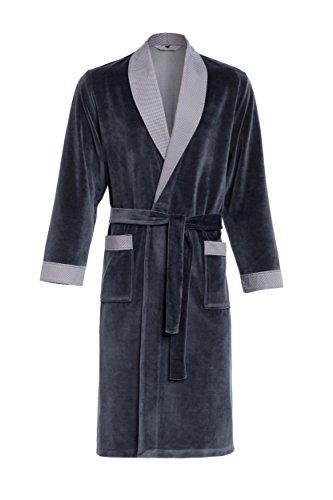 Robe de Chambre pour Hommes RE-103 Velours - Graphite - S