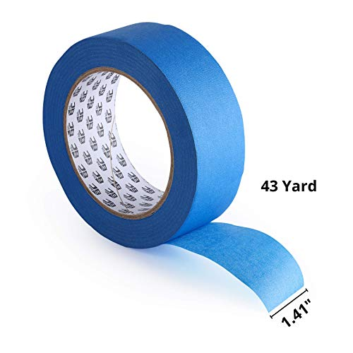 Bates- Painters Tape, 1.4 inch Paint Tape, 2 Pack of Painter Tape, Painting Tape, Masking Tape, Blue Masking Tape, Painting Supplies, Wall Safe Tape, Paint Tape, Blue Painter Tape, Tape for Drop Cloth Photo #2